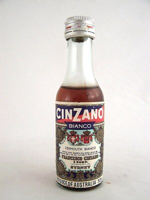 Miniature circa 1978 CINZANO VERMOUTH BIANCO Isle of Wine