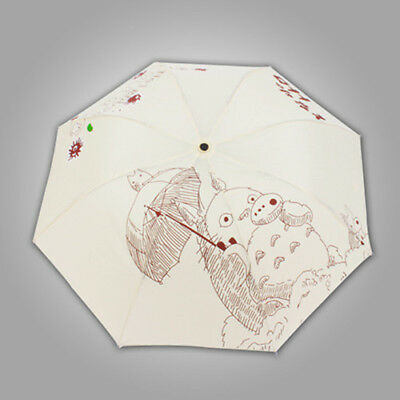 Anime My Neighbor Totoro Three Folding Rain Umbrella Cosplay Sun Umbrella