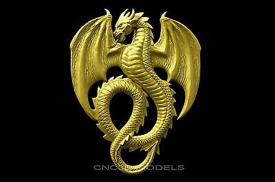 3D STL Models for CNC Router Engraver Carving Artcam Aspire Dragon Animal 1727