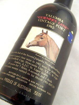 1982 YALUMBA GURNERS LANE Vintage Port BB FREE SHIP Isle of Wine