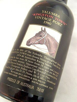 1980 YALUMBA KINGSTON TOWN Vintage Port AA FREE SHIP Isle of Wine