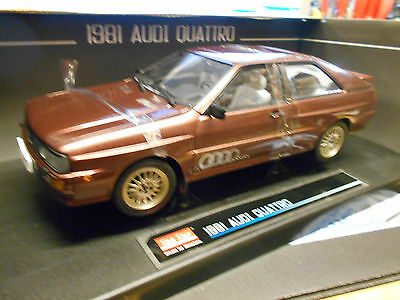AUDI Quattro Turbo 10V Coupe braun brown met Facelift SST Sunstar 1:18