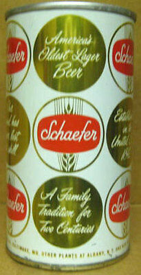 SCHAEFER BEER Zip Tab Top ss CAN Baltimore MARYLAND, Albany & New York City also