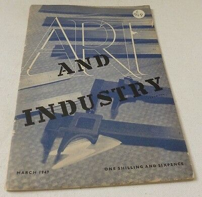 Art and Industry VINTAGE Magazine March 1949