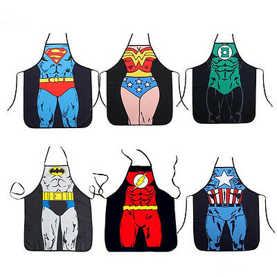 Funny Cooking Kitchen Superhero Apron For Men Women Home BBQ Dinner Party Apron