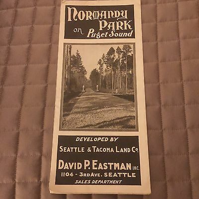 NORMANDY PARK Seattle Des Monies WA Original 1920's Sales Brochure W Map RARE !