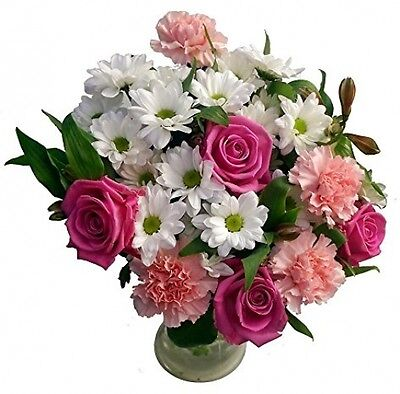 Clare Florist Mothers Day Bouquet, Gorgeous Fresh Pink Roses And Carnations -