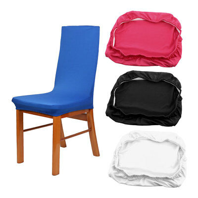 Restaurant Spandex Stretch Removable Dining Chair Cover Protector Slipcover 4pcs