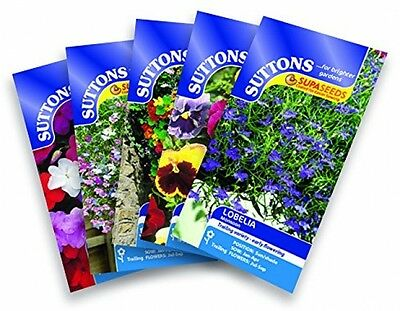Suttons Seeds Hanging Basket Flower Seed Collection