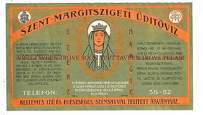 1900s Hungary Szent Margitszigeti Mineral Water labels Stephens Collection