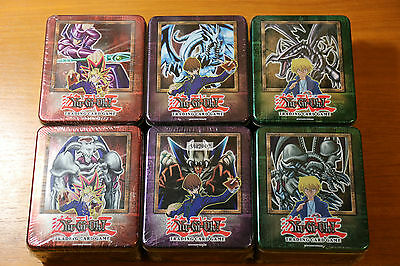 Yugioh Sealed Holiday Collector's Tin 2002 Box Complete Set: Yugi+Kaiba+Joey