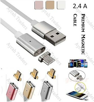 Magnetic Micro USB FAST Data Charger Cable Lead Samsung Galaxy S4 S5 S6 S7 Edge