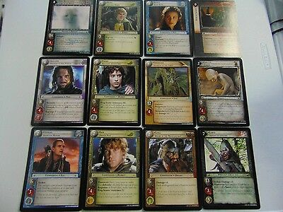 LORD OF THE RINGS LOTR CCG GIANT CARD LOT x12 6X8 IN SIZE  RARE !!!!!  gm449