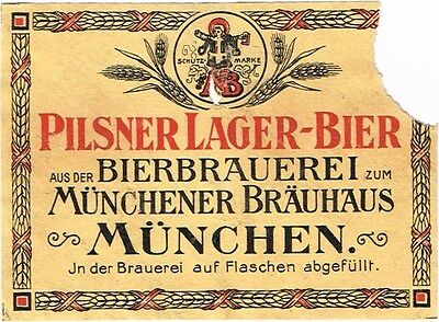 1910s Germany Munchener Brauerei Pilsner Bier Stephens Collection Tavern Trove