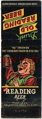 1930s Old Reading GUS Beer Pennsylvania Matchcover Tavern Trove