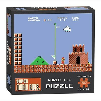 Super Mario Bros World 1-1 Puzzle 550 - Piece Usaopoly 2016