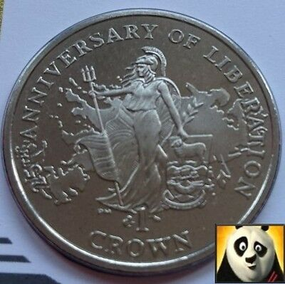 2007 FALKLAND ISLANDS 1 One Crown Coin Britannia Liberation First Day Cover