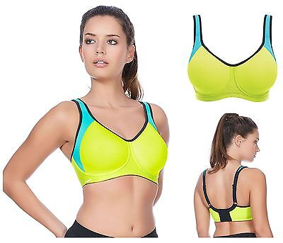 3760b728db11f Freya Active Sonic Underwired Moulded Sports Bra 4892 Lime Punch New  Sportswear