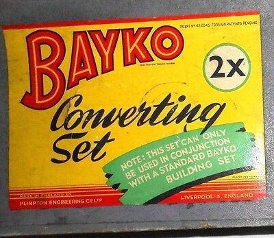 Bayko converting set 2X with box 99% complete