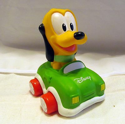 Pluto Dog Clementoni Disney Parks Soft & and Go Figure Baby Toy Green Race Car