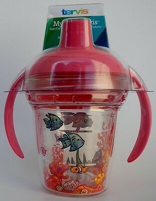 My First TERVIS 6oz Sippy Cup with Pink Lid - Fishy Fun