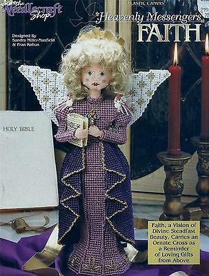 """Faith Plastic Canvas Booklet 16"""" Tall Standing Angel - The Needlecraft Shop"""