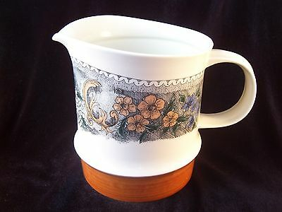 Vintage Goebel Country Line Burgund Water Pitcher 40 oz Bavaria W. Germany Ret