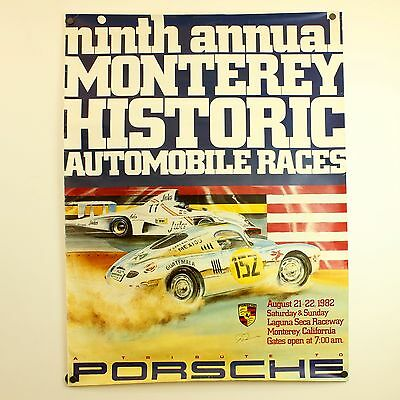 Original Porsche Poster 9th Monterey Historics 1982 Races Poster 962 956 935 911