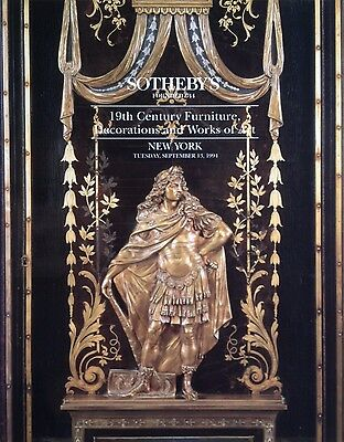 Sotheby's 19th CENTURY FURNITURE, DECORATIONS & WORKS OF ART Sept 1994 Sale 6593
