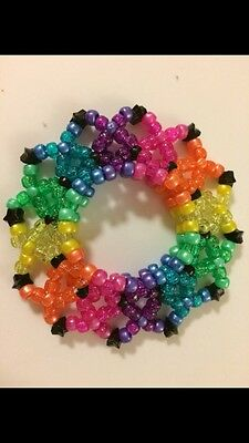 Rainbow 3D Kandi disc cuff, EDC, EDM,Ultra, Raves,