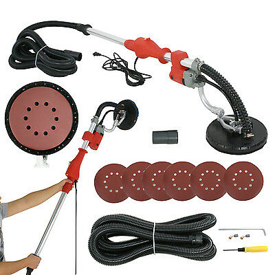 Industrial Vacuum Drywall Sander With Telescopic Handle+14FT Hose+6 Sand Discs