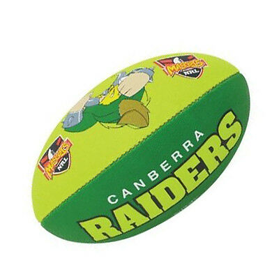 "NRL Canberra Raiders Mascot Rugby Ball by Steeden 11"" Hand Pump"