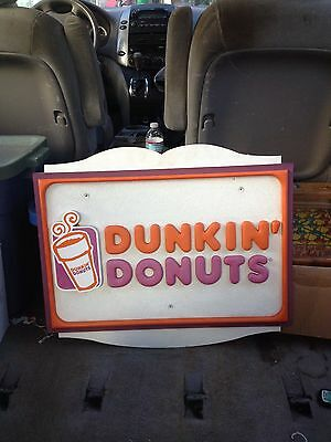"1990's 23"" Wooden Dunkin Donuts Sign"