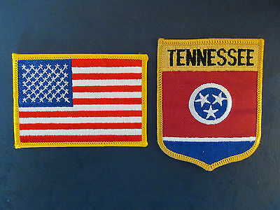 2 Lot Tennessee & USA Patches Hat Jacket Hoodie Biker Vest Backpack Travel