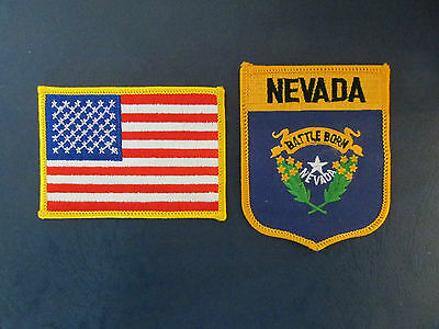 2 Lot Nevada & USA Patches Hat Jacket Hoodie Biker Vest Backpack Travel