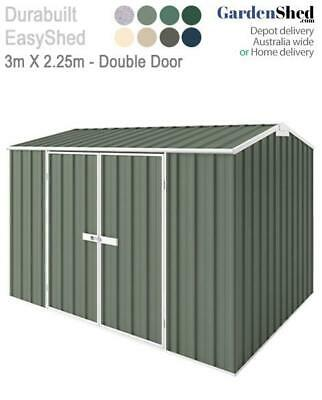 EasySheds 3m x 2.25m Garden Shed - FREE Anchor & Skylight (Sep only)
