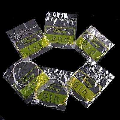 Set of 6 Professional Nickel Steel Strings Style For Acoustic Guitar