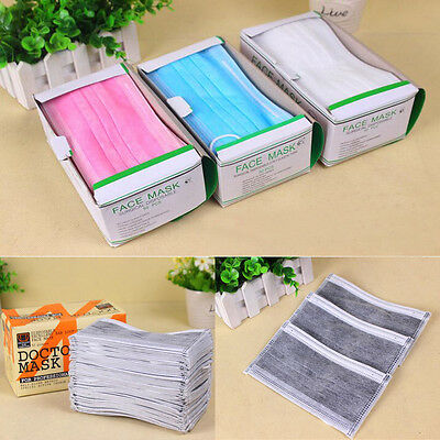 New 50 Pcs Disposable Dental Medical Surgical Dust Ear Loop Mouth Face Mask Set