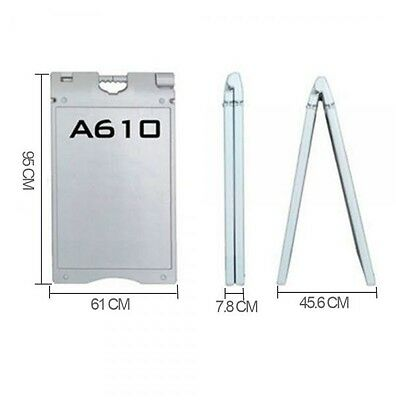 Outdoor Windproof A-Frame Double Sided Plastic Sidewalk Sign Board 95*61 WHITE