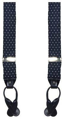 40 Colori Dotted Braces - Navy/White