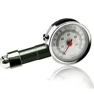 0-100 PSI  Auto Car Motorcycle Tire Pressure Gauge Tyre Air Pressure Tester Dial