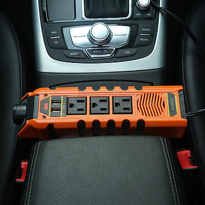 150W 12V Car Power Inverter Charger With 2 USB AC 110V Cigarette Lighter Adapter