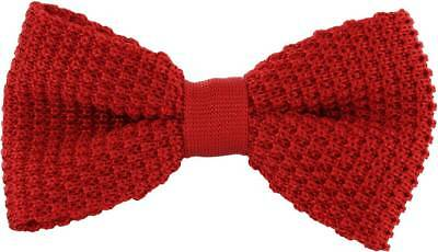 Michelsons of London Silk Knitted Bow Tie - Red