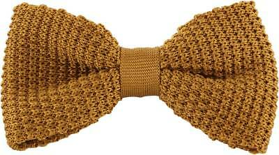 Michelsons of London Silk Knitted Bow Tie - Gold