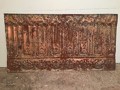 "1 - 20"" x 12"" Antique Ceiling Tin Tile Vintage Reclaimed Salvage Re Purpose Art"