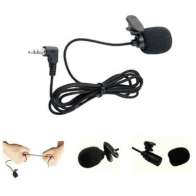 3.5mm Lapel Lectures Teaching Clip-On Collar Microphone Wired-Audio Jack