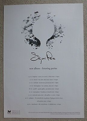 Sigur Ros - Listening parties  RARE ORIGINAL VINTAGE PROMOTIONAL MUSIC POSTER #1