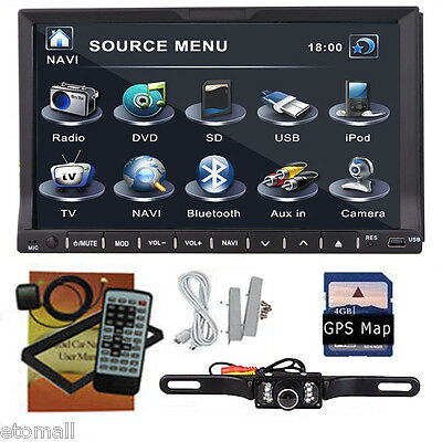 """Double 2Din 7"""" HD In Dash Car Stereo DVD CD MP3 Player Bluetooth Radio Camera"""