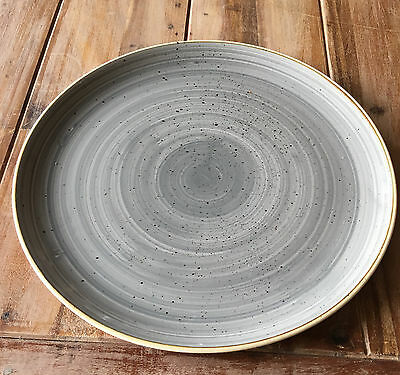 Churchill STONECAST Coupe Plate Peppercorn Grey Teller Porzellan 16,5 cm grau