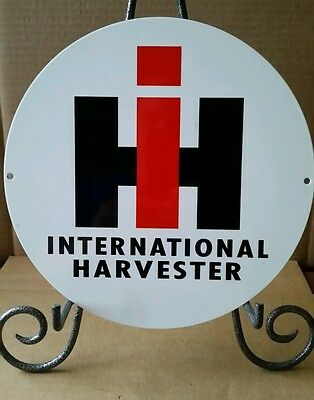 Round Heavy Steel Ih International Harvester Sign
